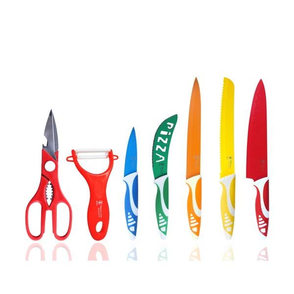 Sada 5 nožov, škrabky a nožníc Hippo