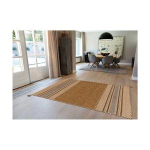 Hnedý ručne vyrábaný bavlnený koberec Arte Espina Navarro 2921, 130 × 190 cm