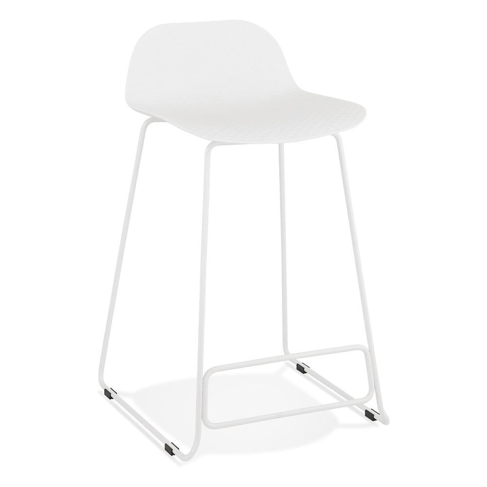 Biela barová stolička Kokoon Slade Mini, výška sedu 66 cm
