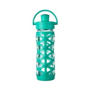 Sklenená fľaša na vodu so silikónovým chráničom Lifefactory Aquatic Activ, 475 ml