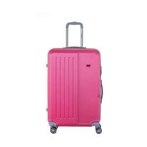 Ružový cestovný kufor na kolieskách s kódovým zámkom SINEQUANONE Josh, 107 l