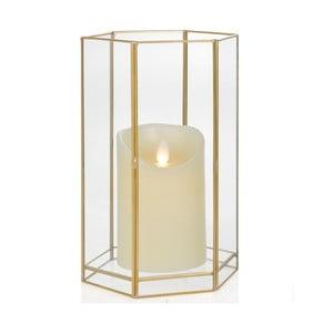 Svietnik Gold Hex, výška 22.8 cm
