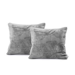 Sada 2 sivých obliečok na vankúše DecoKing Mic, 45×45 cm
