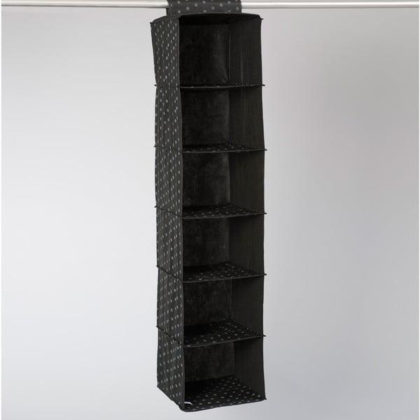 Textilný závesný organizér Compactor Garment Black 6 Rack