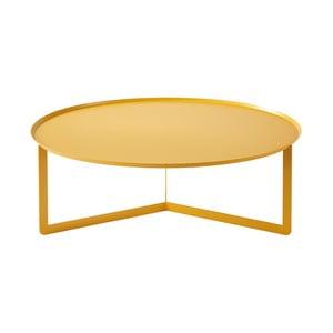 Žltý konferenčný stolík MEME Design Round, Ø 95 cm