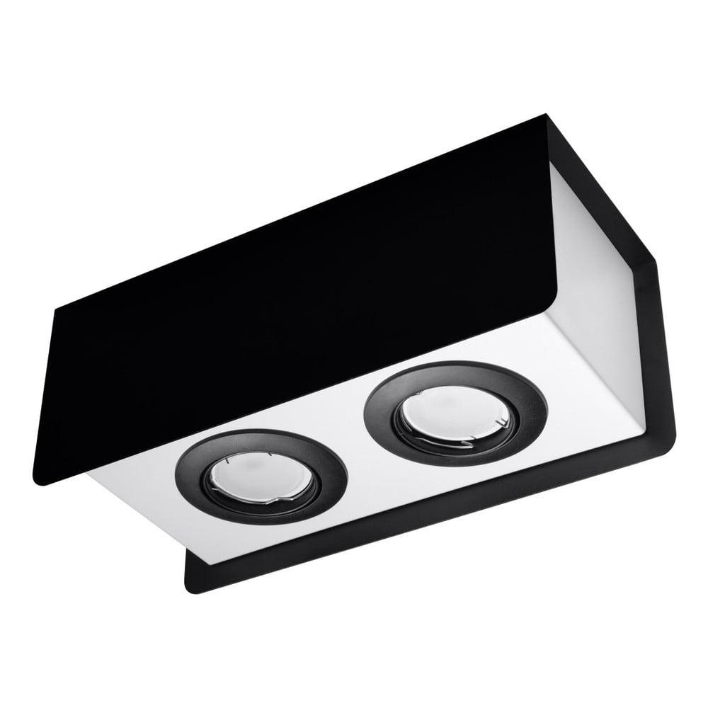 Čierno-biele stropné svietidlo Nice Lamps Sain Duo