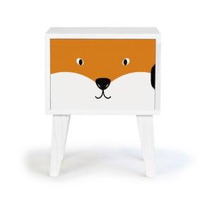 Detský drevený nočný stolík Little Nice Things Fox
