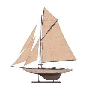 Dekoratívna plachetnica Sail Boat Beige, 71 cm
