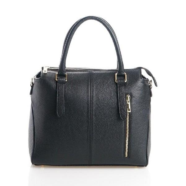 Kožená kabelka Konstanc, čierna