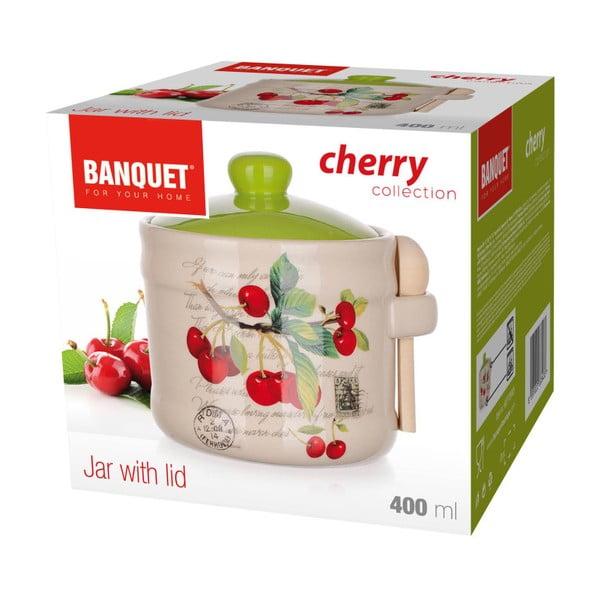 Keramická dóza s lyžičkou Banquet Cherry, 400ml