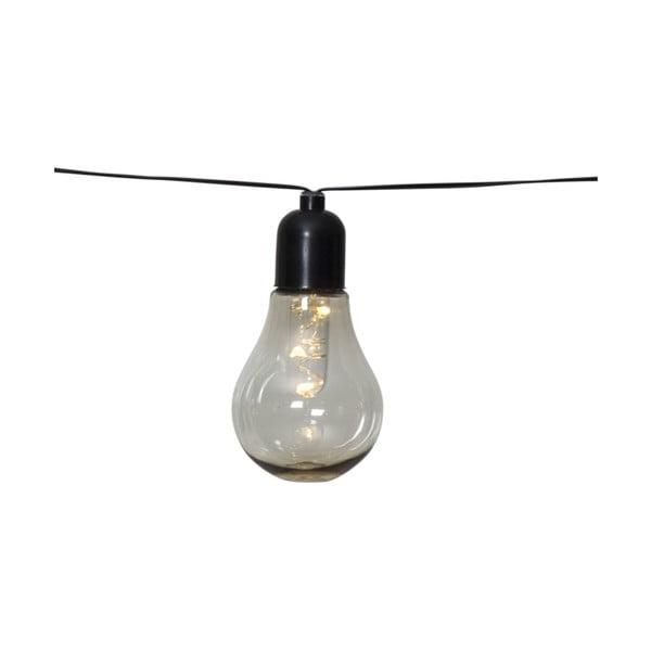 Vonkajšia svetelná LED reťaz s motívom žiaroviek Best Season Glow, 10 svetielok