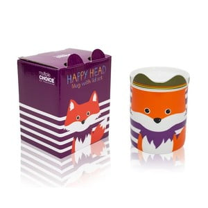 Hrnček z kostného porcelánu s viečkom Silly Design Fox Fryderyk, 280 ml