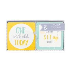 Sada 24 dekoratívnych kartičiek Busy B Baby
