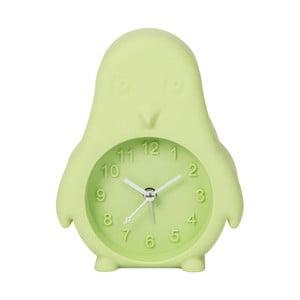 Svetlozelené hodiny s budíkom Just 4 Kids Green Penguin