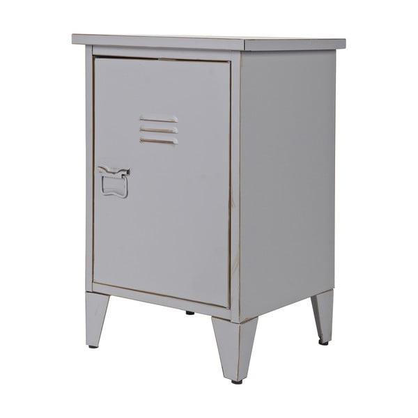 Nočný stolík Max, sivý, pravostranné otváranie