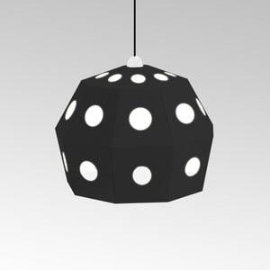 Kartónové svietidlo Uno Fantasia B Black, s čiernym káblom