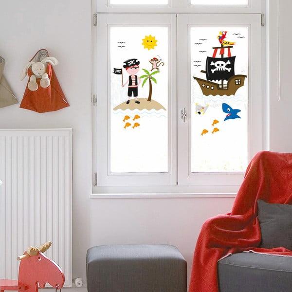 Samolepka na okno Piráti