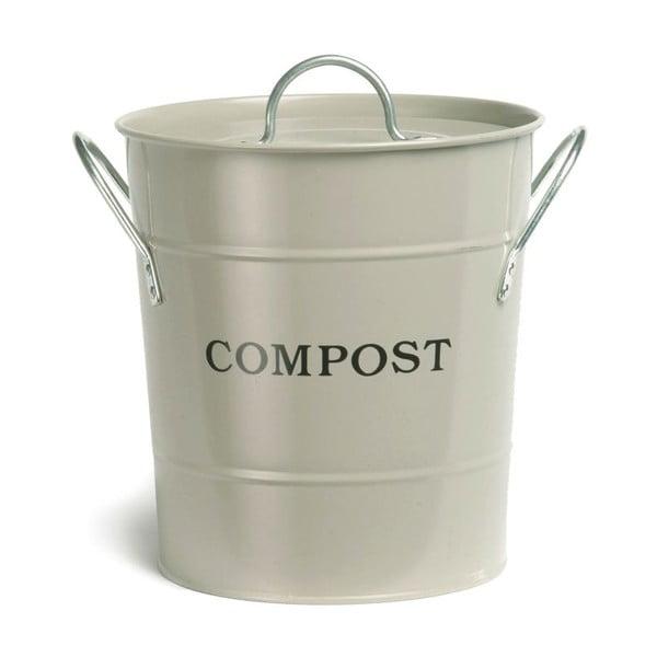Biely kompostér Garden Trading Bucket White, 3,5 l