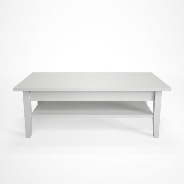 Biely konferenčný stolík z bukového dreva Artemob