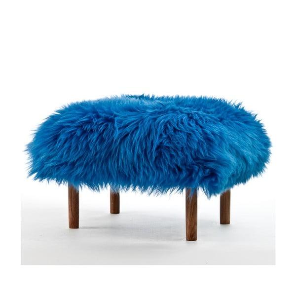 Stolička z ovčej kože Bonwen Cornflower Blue