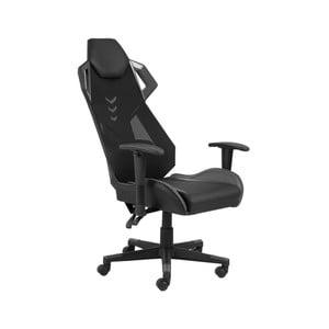 Čierno-sivé kancelárske kreslo na kolieskach Actona Kevin