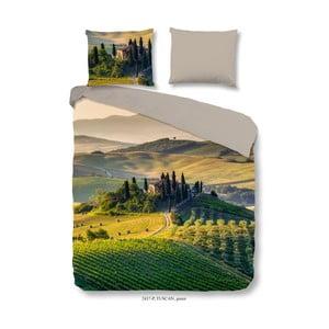 Bavlnené obliečky na dvojlôžko Good Morning Tuscan Green, 200×240 cm