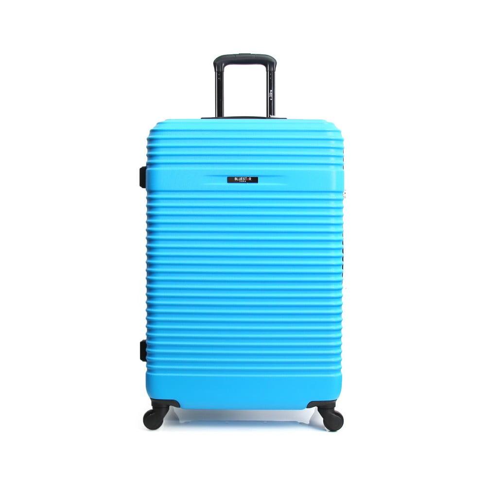 Tyrkysovomodrý cestovný kufor na kolieskach Bluestar Cargo, 64 l