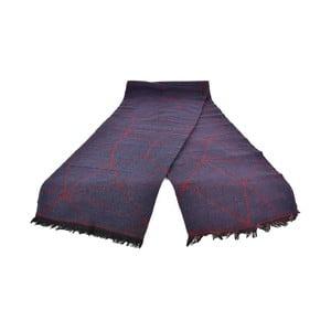 Fialový dámsky šál s prímesou bavlny Dolce Bonita Sky, 170 × 90 cm