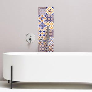 Sada 12 dekoratívnych samolepiek na stenu Ambiance Alenna, 15×15 cm