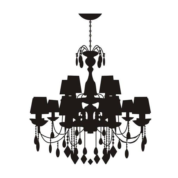 Dekoratívna samolepka Castle Lamp, 80x80 cm