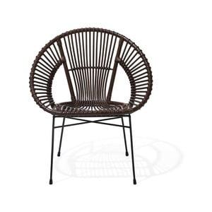 Hnedá ratanová stolička Monobeli Noemi