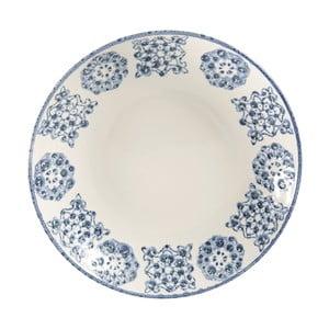 Modrý keramický hlboký tanier Côté Table Faro