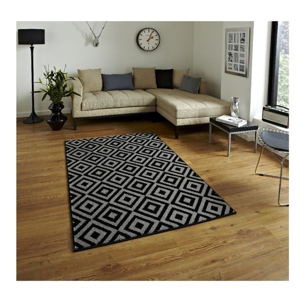 Koberec Matrix Black Grey 120x170 cm