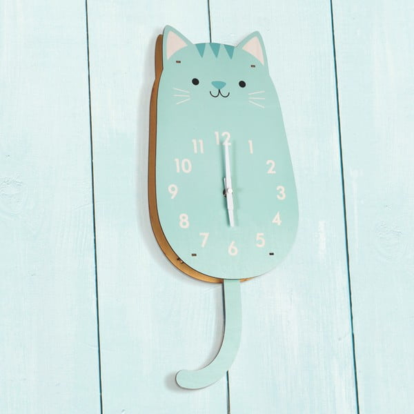 Drevené hodiny Rex London Cookie The Cat
