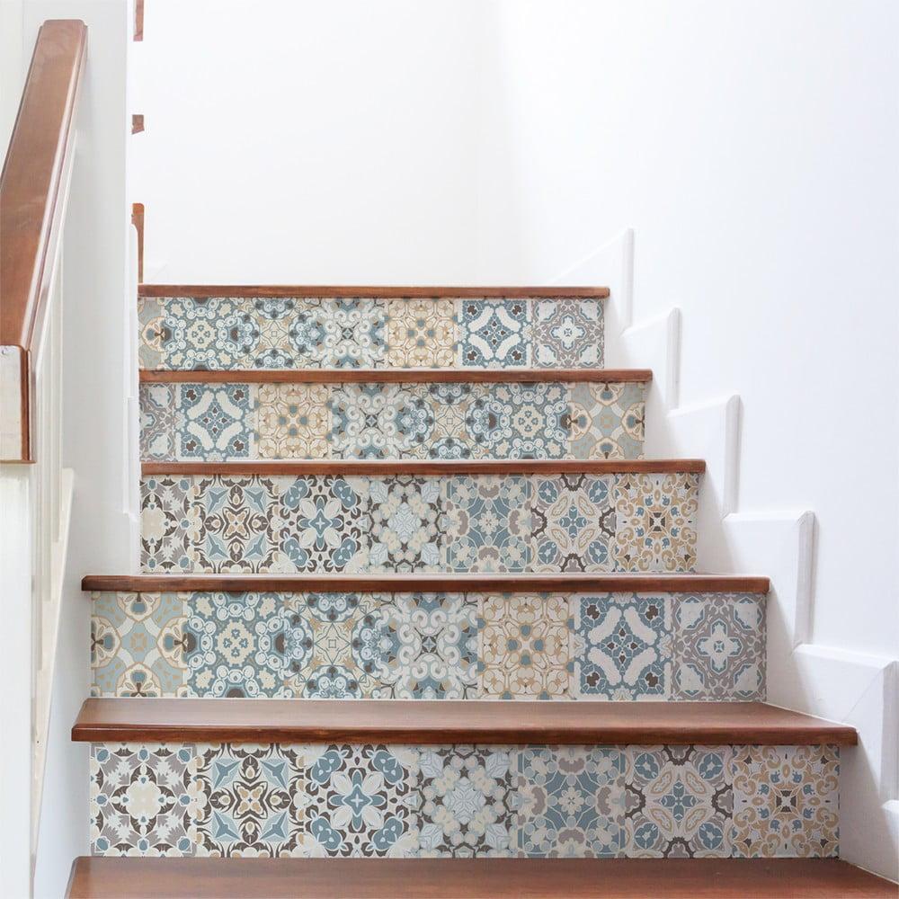 Sada 2 samolepiek na schody Ambiance Stylismo, 15 × 105 cm
