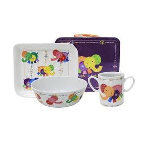Detský raňajkový set v kufríku Silly Design Elephant