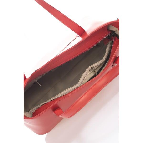 Kožená kabelka Markese 2418 Red