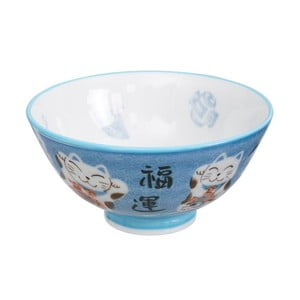 Modrá miska Tokyo Design Studio Cat, ø 11,2 cm