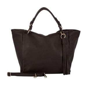 Tmavohnedá kabelka z pravej kože Andrea Cardone Star