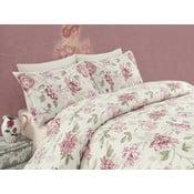 Ružové obliečky na dvojlôžko Care, 200 x 220 cm