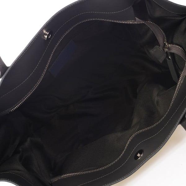 Tmavosivá kožená kabelka Giulia Massari Bycast