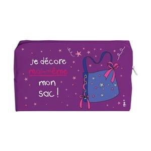 Fialová toaletná taška Incidence Basics, 18 x 11 cm