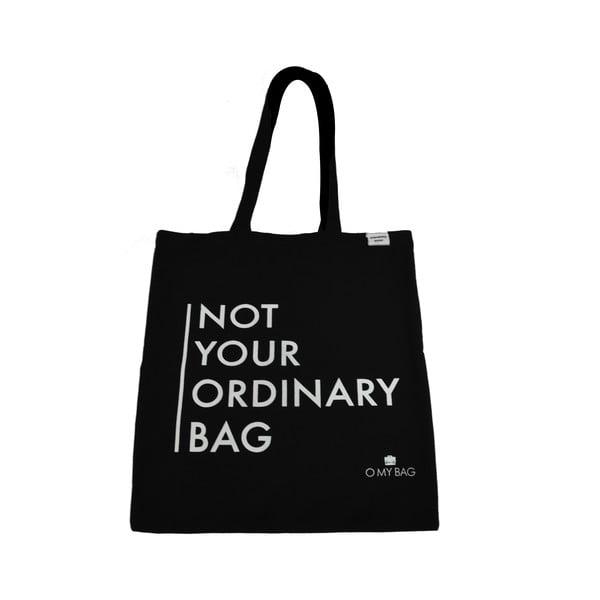 Bavlnená taška O My Bag Not Your Ordinary, čierna
