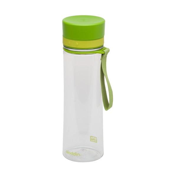 Fľaša na vodu so svetlozeleným viečkom Aladdin Aveo, 600ml