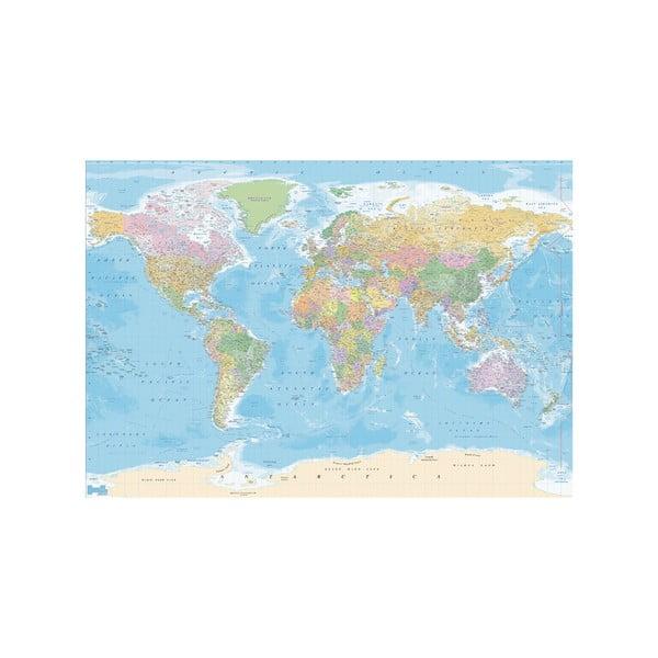 Veľkoformátová tapeta Modrá mapa, 360x253cm