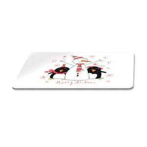 Podnos s vianočným motívom PPD Singing Penguins, 23,3 × 14,3 cm