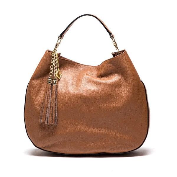 Kožená kabelka Isabella Rhea 1118 Cognac