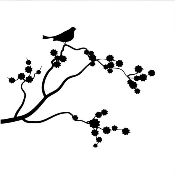Samolepka Ambiance Flowering Tree And Bird
