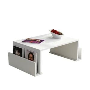 Biely konferenčný stolík Magazin