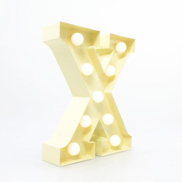 Dekoratívne svetlo Carnival X, vanilkové